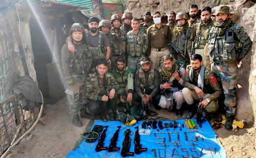 Terror hideout busted in Poonch, arms & ammunition recovered