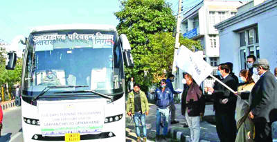 Advisor Baseer flags off 2nd batch of Sarpanchs for 5-day exposure visit to Uttarakhand