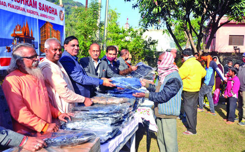 BSS distributes woolen clothes among poor, needy