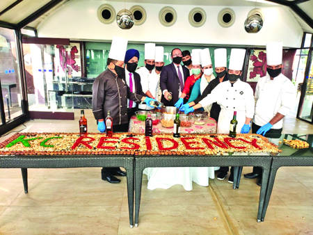 Festive Season begins at Hotel K C Residency with Cake Mixing Ceremony