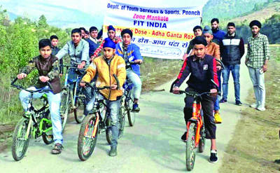 Fit India cycling rally held at Poonch