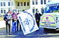 DDC Kishtwar flags-off local student group for 15-day Snow Skiing Courses at Gulmarg