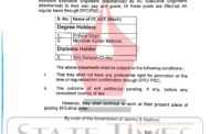 Three AEEs placed as XEns in Public Works Deptt