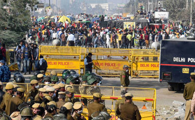 Farmers' stir: Several Delhi border points closed, police ask motorists to take alternative routes