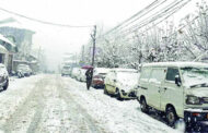 Snowfall in higher reaches; improvement in min temperature in Valley
