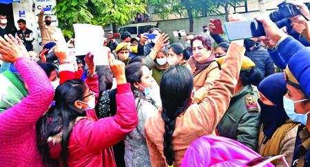Arrest Ex-BJP MLA R S Pathania for conspiring attack on Manju Singh: Mahila Panthers