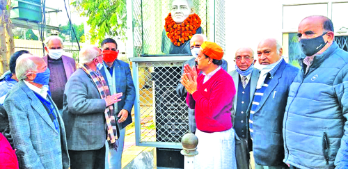 Majahan Sabha celebrates birthday of Mehr Chand Mahajan