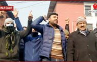 PHE Joint Employees Association staged protest in Srinagar