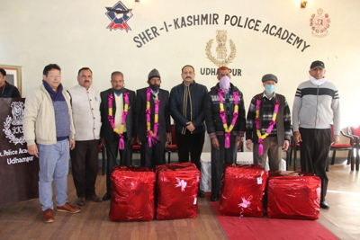 SKPA Udhmapur accords warm send-off to retiree officials