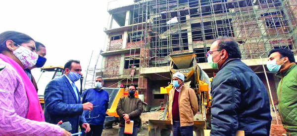 Progress of works on Employment complex at Toph Sherkhania reviewed