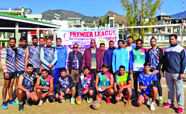 Shaheed Manjit Singh Club wins three matches in Volleyball League
