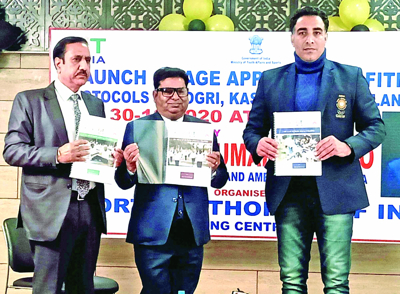 Handoo releases fitness protocols in Dogri, Kashmiri