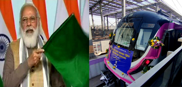 PM inaugurates India's first-ever driverless train operations; refers to measures like GST, FAStag cards, one nation, one ration card