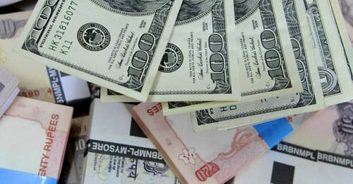 Rupee opens on flat note against US dollar