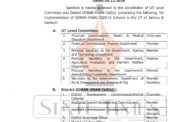 J&K Govt constitutes UT Level Committee & District GOBARDHAN Cells for implementation of GOBAR-DHAN 2020-21 Scheme