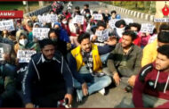 Nursing students continued their protest in Jammu University; demand online exams