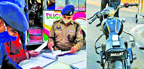 Traffic Police carries out drive against modified silencers